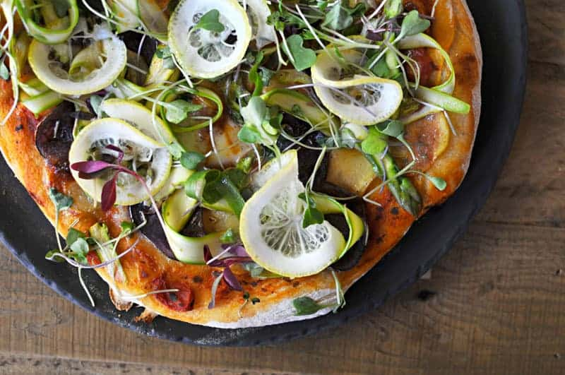Pizza Recipe // Shaved Asparagus, Roasted Potato, Smoked Mozz + Lemon ...
