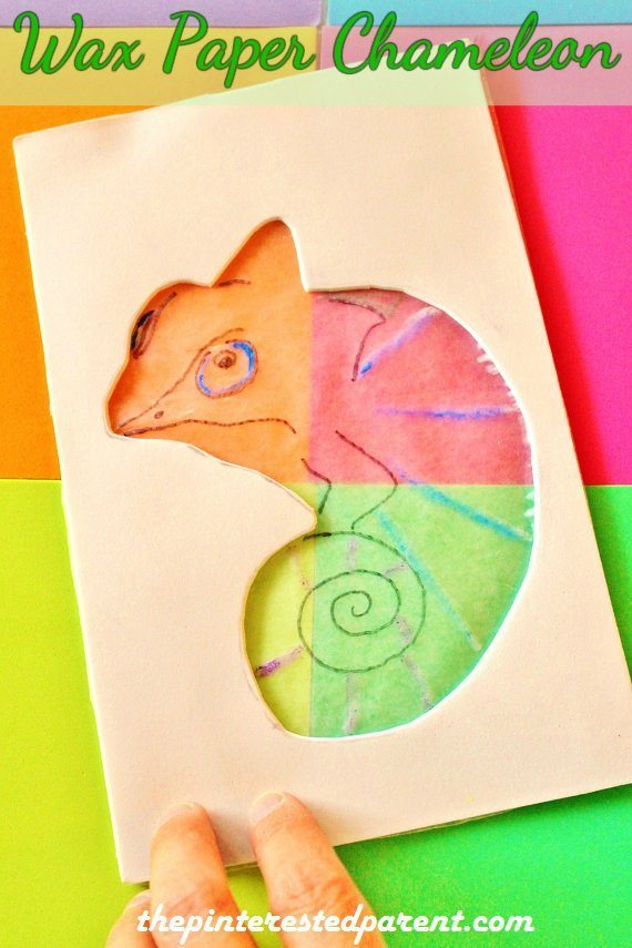 color changing wax paper chameleon the pinterested parent