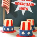 Mini Uncle Sam Hats made from Dixie Cups