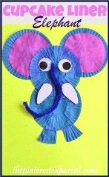 Cupcake Liner Elephant