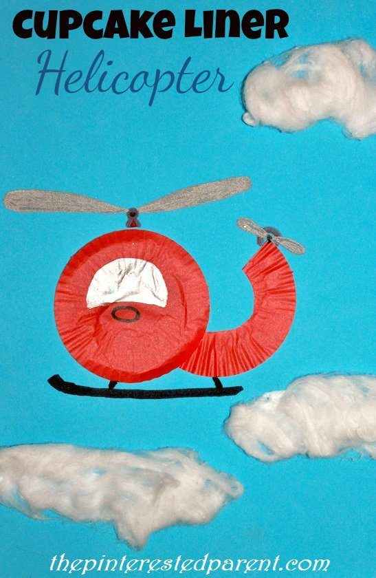 Cupcake Liner Helicopter