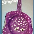 Paper Plate Stingray craft for kids.  aN adorable project for summer made with paper plate & bowl