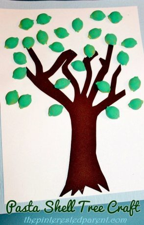 Pasta Shell Tree Craft
