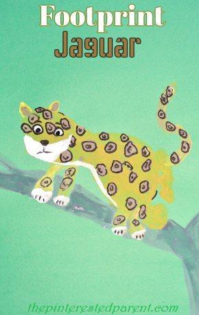 Footprint Jaguar - Footprint Crafts from A-Z J is for Jaguar