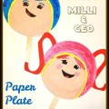 Paper Plate Team Umizoomi Character Masks - Milli & Geo