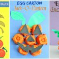 Egg Carton Pumpkins & Jack-o-lantern crafts