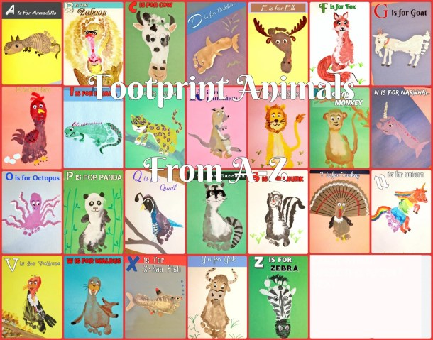 Footprint Animal Crafts from A-Z