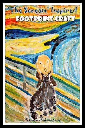 Footprint Craft Inspired By Edvard Munch's The Scream