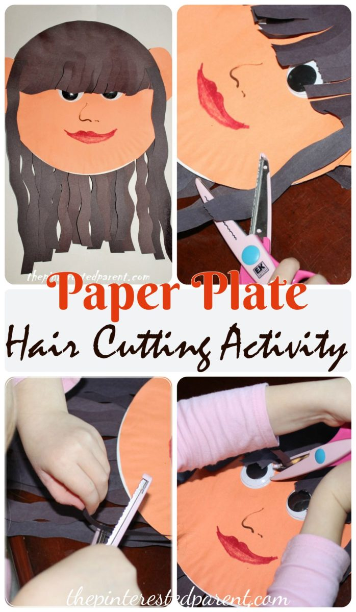 Paper Plate Hair Cutting Activity