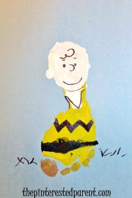 The Peanuts Charlie Brown footprint craft