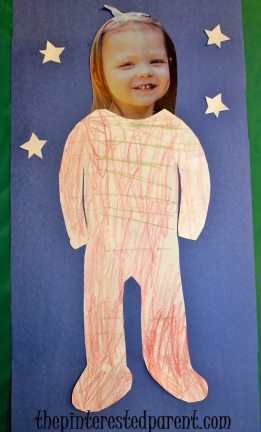 Footed pajama craft for kids.