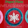 Paper Plate Snowflake Ornament Crafts - Kid's Christmas Winter Crafts