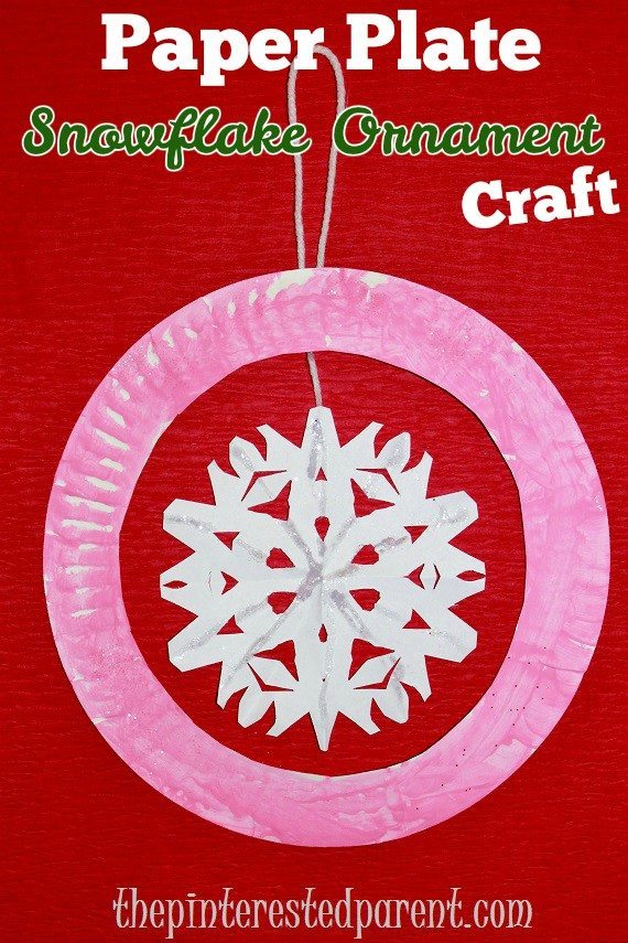 snowflake paper plates Make these simple no mess paper plate snowflakes with you baby, toddler or preschooler a simple winter craft.