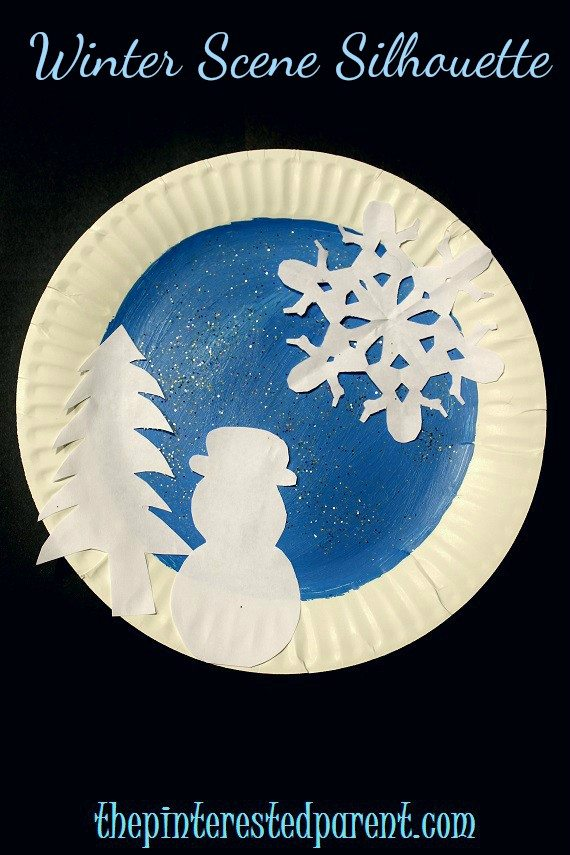 paper plate winter crafts