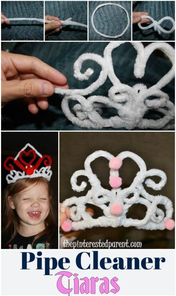 Pipe cleaner tiara for princess & pretend play