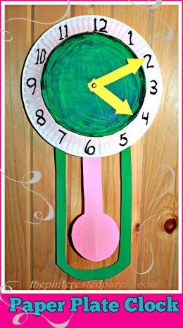 Paper Plate New Year's Eve Clock with movable hands from The Pinterested Parent