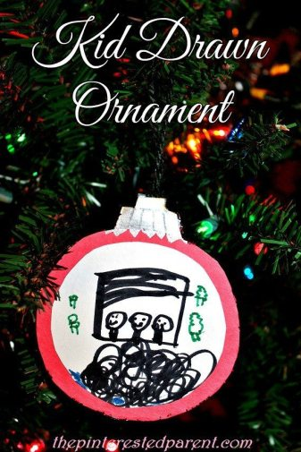Kid Drawn Ornament for Christmas