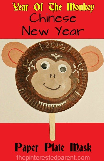 Year Of The Monkey Paper Plate Craft