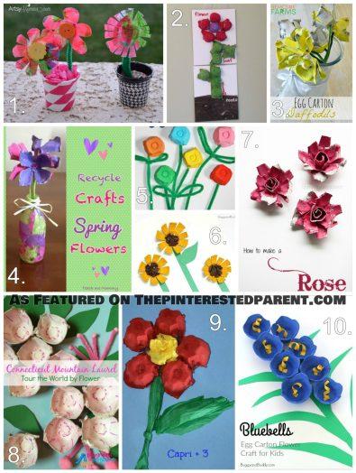 Egg Carton Flower Crafts For Kids (2)