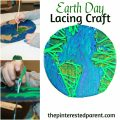 Earth Day Lacing Craft using recycled cardboard. A great fine motor activity & craft for the kids.