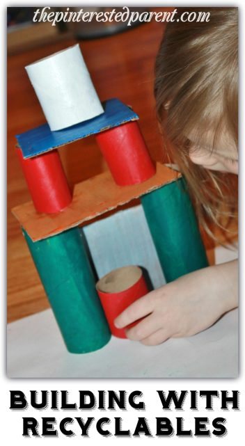 Use old cardboard tubes & rolls and other recyclables to build. STEM activities for kids