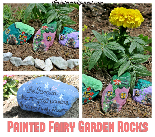 Painted rocks for fairy gardens. These would be adorable to line the edge of a kid's garden