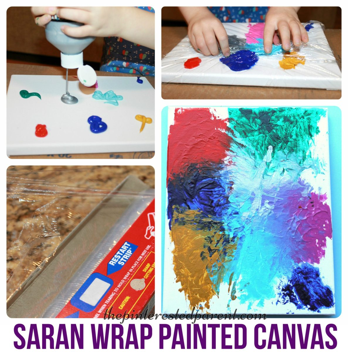 Saran Wrap Canvas Art