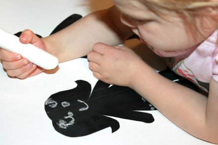 Chalkboard paper dolls for kids. Use chalk to draw 7 erase - Arts & crafts