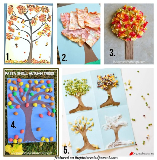 20 Beautiful Fall Tree Arts & Crafts Ideas for kids - Autumn crafts for preschoolers,