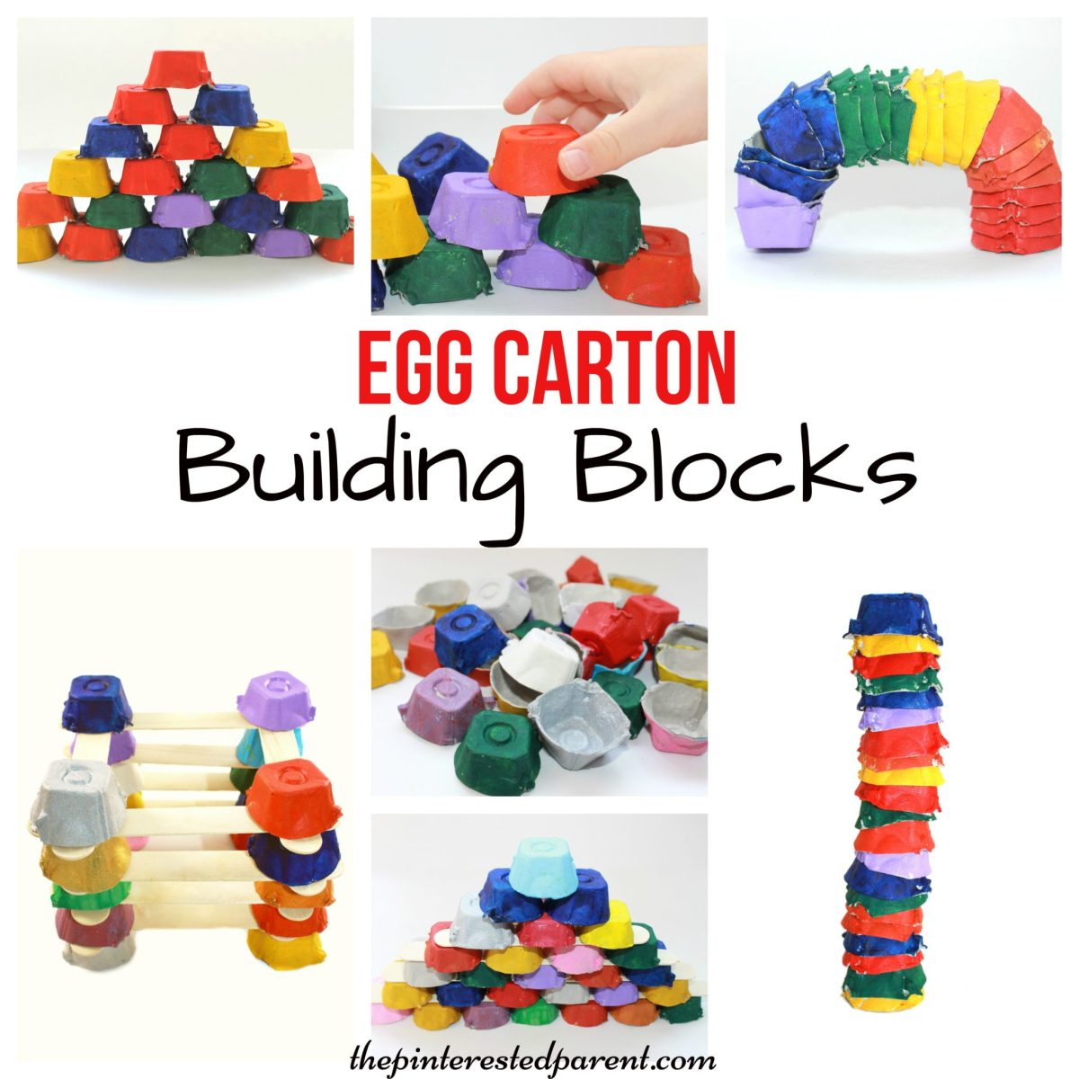 Egg Carton Building Blocks