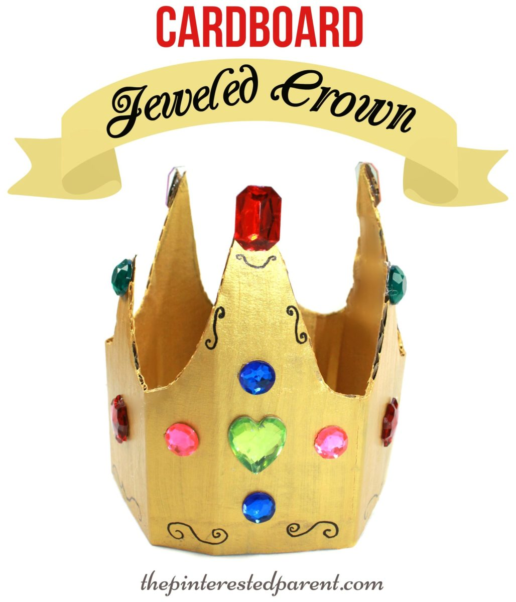 Cardboard dress up crown the pinterested parent for Art and craft crown