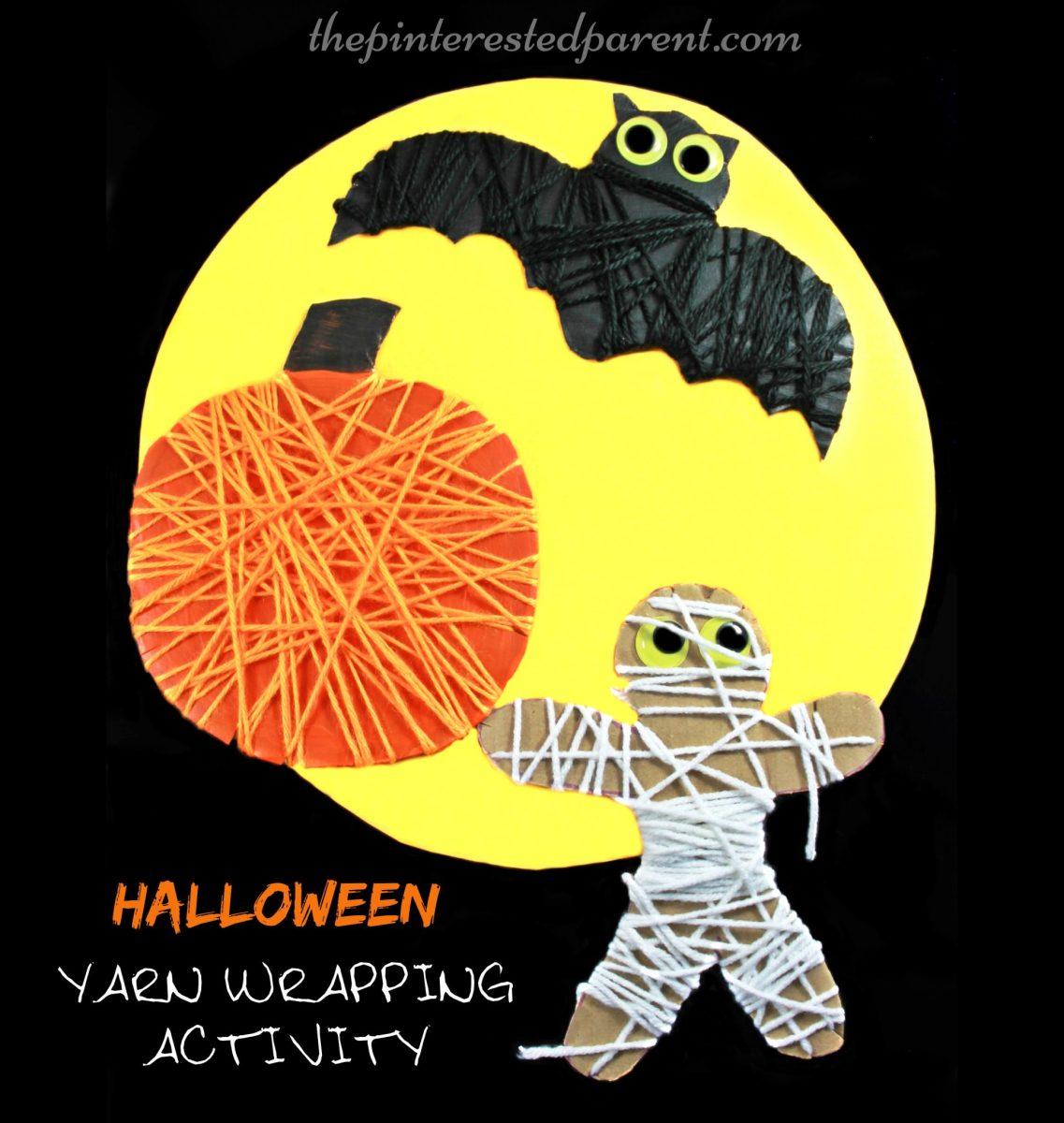 Halloween Yarn Wrap Activity