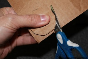"""Cut out two 1 1/2"""" circles out of card board for each flower that you are making."""