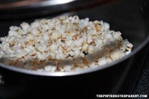 Make popcorn & set aside to cool.