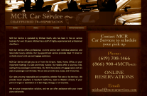 MCR Car Services Website