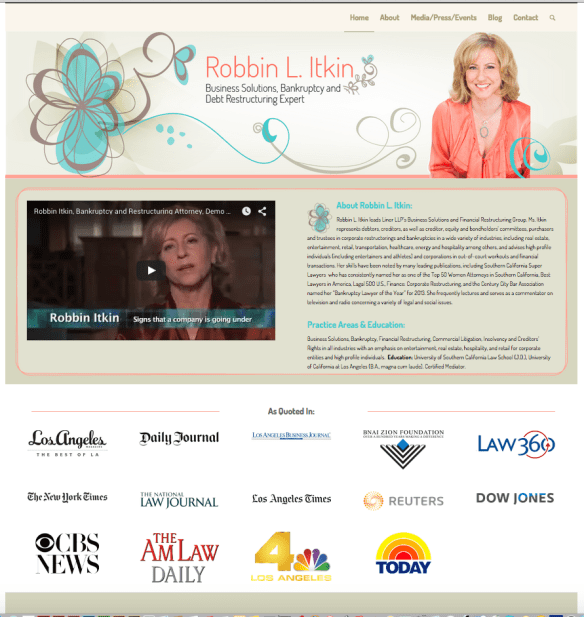 Robbin L. Itkin Website Design for TVGuestpert.com