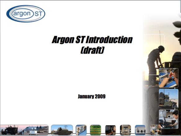 Argon ST PowerPoint briefing template