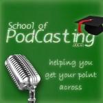 school of podcasting logo