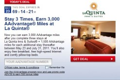 3,000+ American Miles for La Quinta Stays