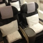 Business Class seats aboard the 757 p.s.
