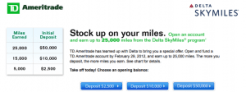 Up to 20,000 Starpoints or 25,000 Airline Miles with TD Ameritrade