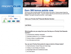 1,500 Priority Club Points For Taking 3 Quizzes