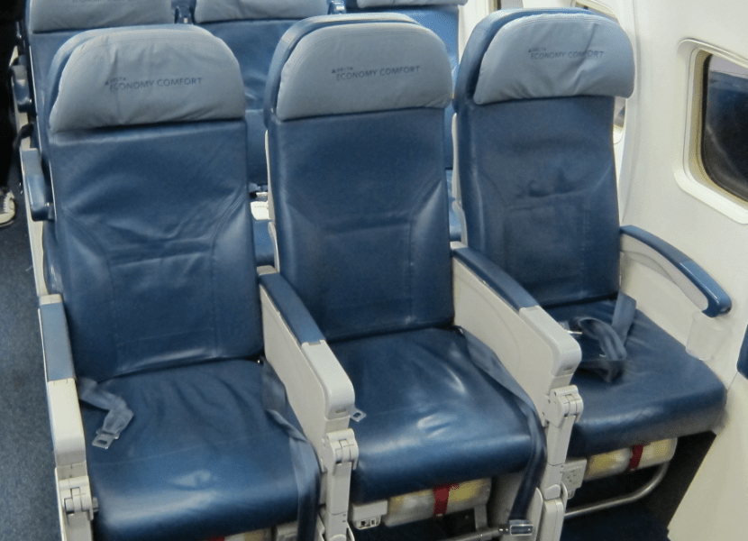 Sample Economy Comfort Seats on JFK-DUB on the 757. Not glamorous, but more recline than regular coach seats