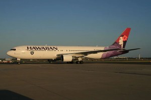 Hawaiian Airlines has a hub at Honolulu International Airport.