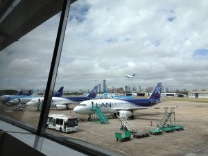 LAN and Aerolineas planes at AEP.