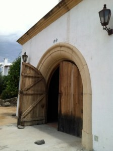 Door leading into the Adobe Guadalupe Tasting Room.