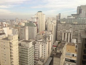 View of the city from my room on the 20th floor.