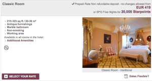 Booking at the Hotel Imperial Vienna would save me 35,000 points.