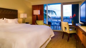 Oceanfront king guest room at the Westin Key West.