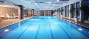 Indoor pool area at the InterContinental Beijing Financial Street.